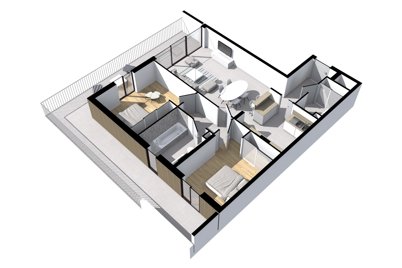 plan 3d t3 trinitalba